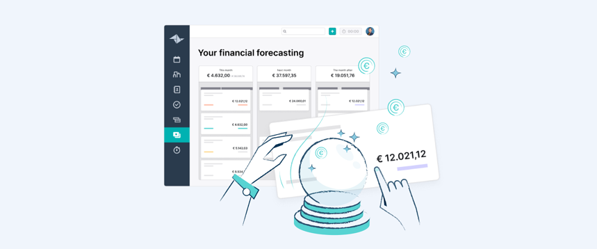 Predict your future income with Teamleader's Financial Forecast