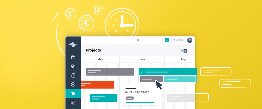 Maintain your overview - and your sanity - with Teamleader's Cross-projects Timeline