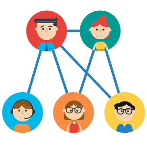 Links in an organisation
