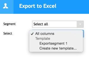 Export tp excel