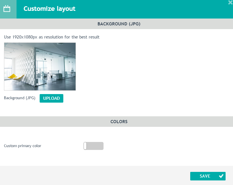 Customising layout