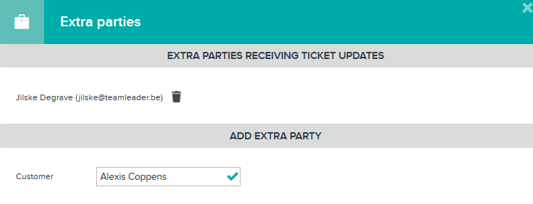 Add extra party