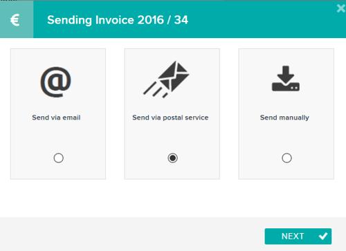 Sending invoice