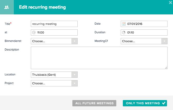 Edit recurring meeting